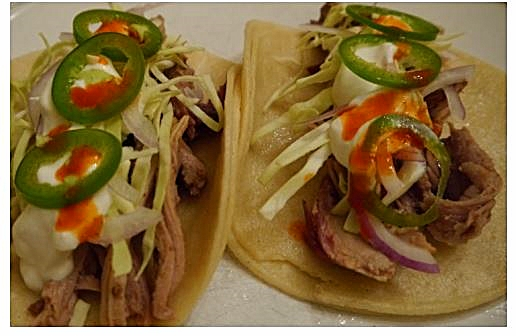 Pulled Pork Tacos, courtesy of Peter Reynolds of