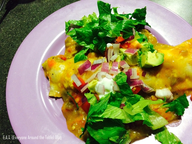 Pork and green chili burritos