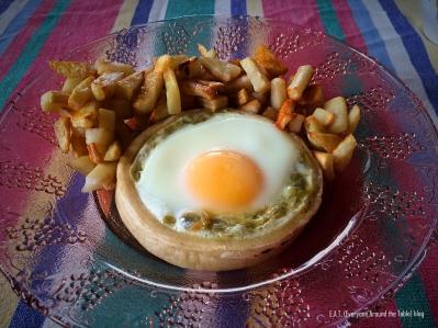 Egg Green Chili Sopas - done