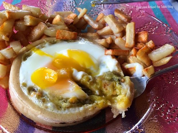 Egg Green Chili Sopas - Eating