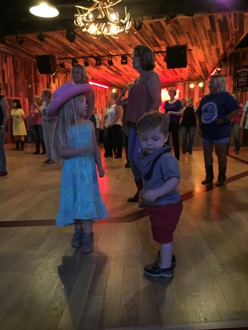 Cowboys Saloon - kids line dancing