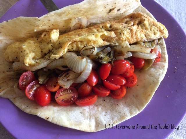Roasted Chilies Breakfast Taco