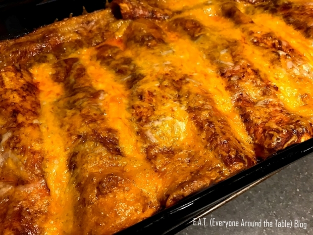 Baked Chicken Enchiritos by E.A.T. (Everyone Around the Table Blog)